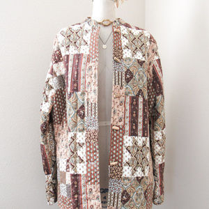 VINTAGE Calico Floral Quilted Jacket Paisley Print